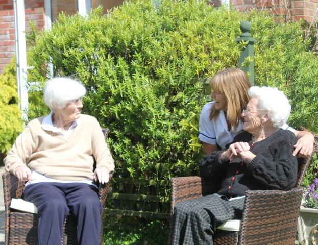 sunny day at Bradfield Residential Home, Kent