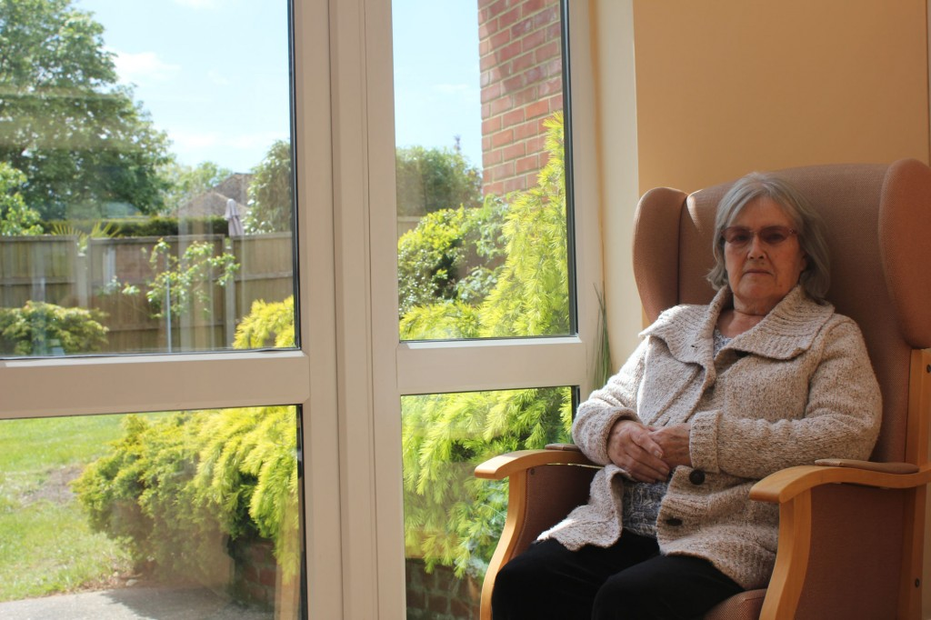 suns shining at Bradfield Residential Home.