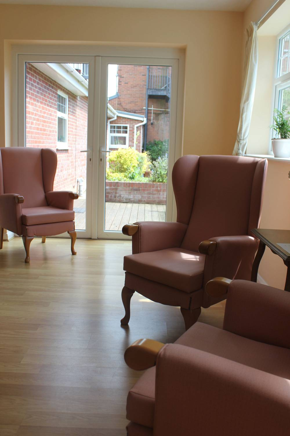 a range of facilities at Bradfield Residential Home.