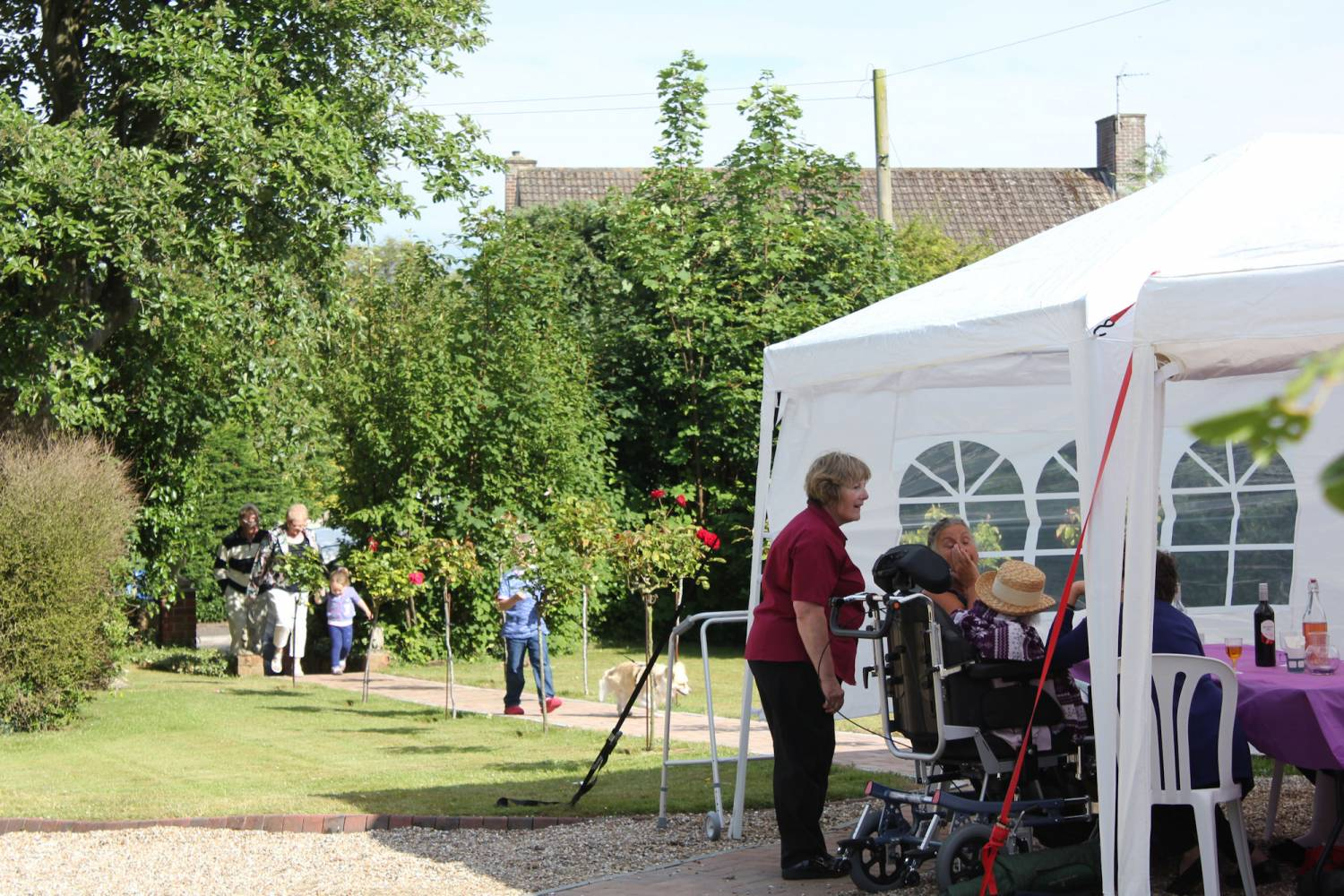 Summer BBQ at Bradfield Residential Home, Walmer, Deal, Kent.