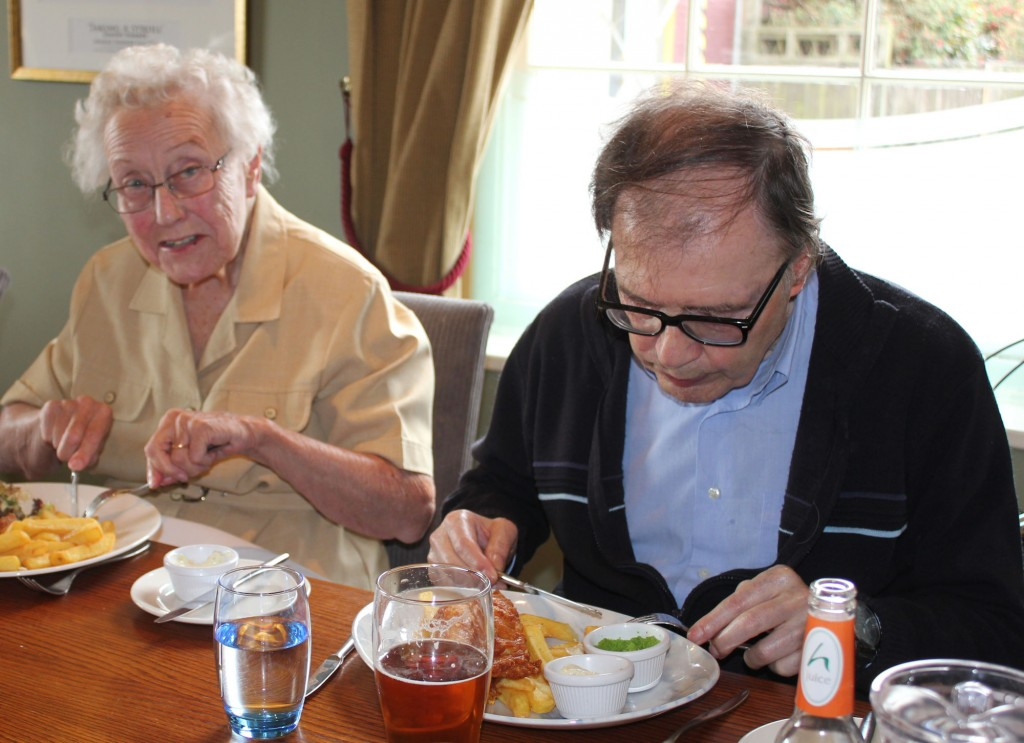 meals out at Bradfield Residential Home, Deal Kent
