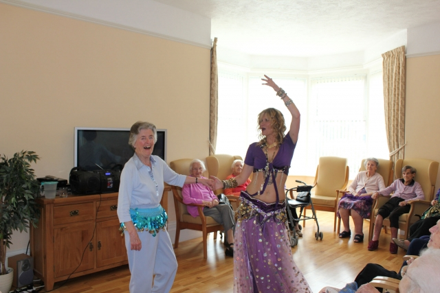 Dancing afternoon at Bradfield Care Home.