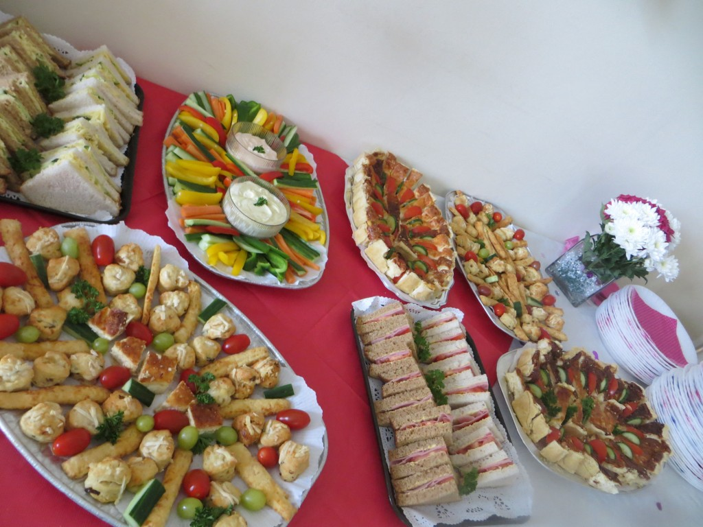 party platters available here at Bradfield Residential Home, Walmer Kent.